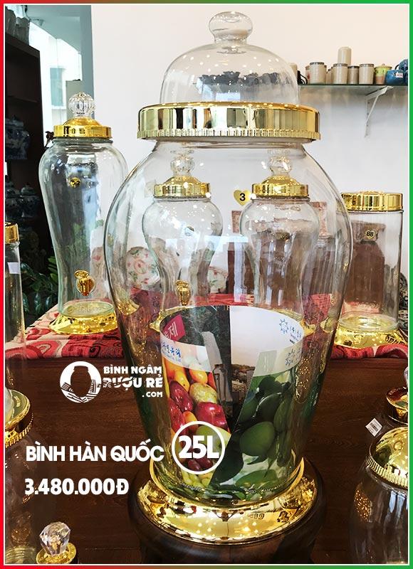 Bình ngâm rượu thủy tinh Hàn Quốc cao cấp