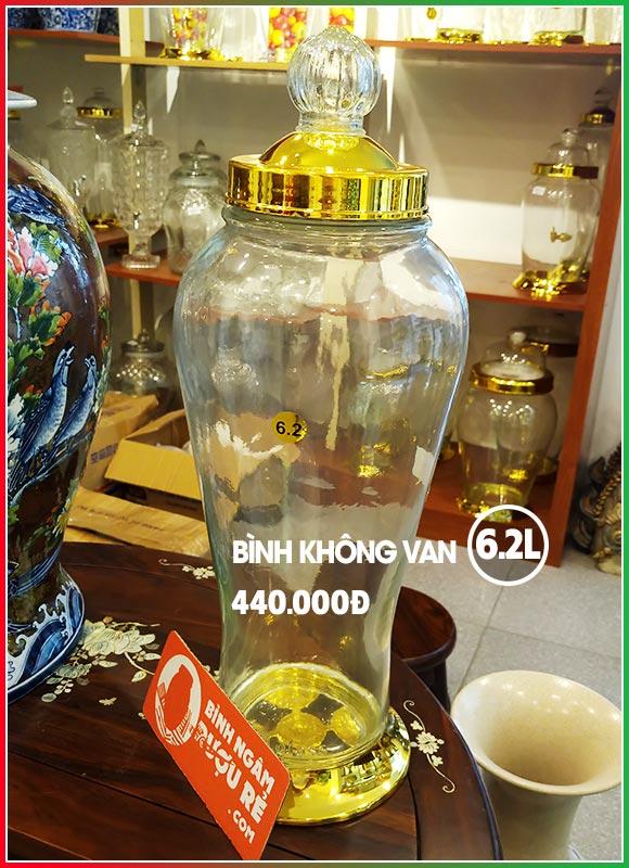 Bình thủy tinh ngâm rượu sâm 6L2 có vòi (van)