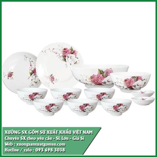 Cung cấp bát đĩa kiểu đẹp - bát đĩa sứ in logo xuất khẩu