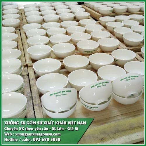 Cung cấp chén dĩa sứ trắng giá rẻ - bát đĩa sứ xuất khẩu