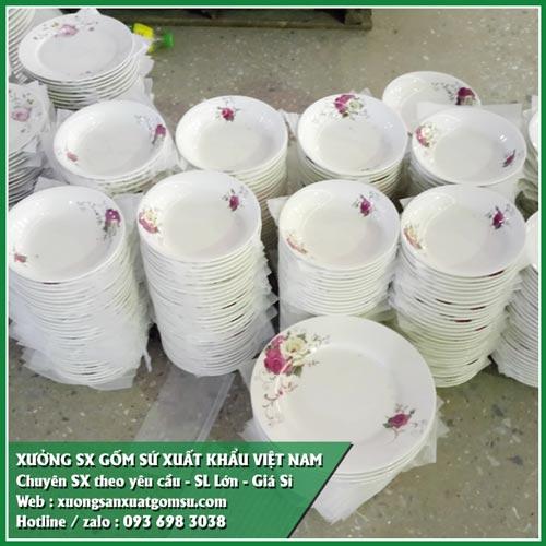Cung cấp bộ tô chén dĩa sứ giá sỉ - bát đĩa sứ xuất khẩu
