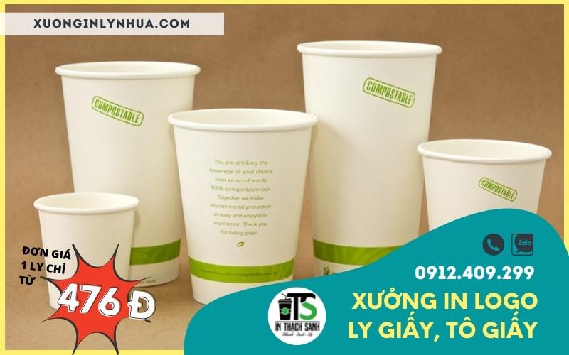Lợi ích từ việc in logo lên ly giấy cho các cửa hàng café