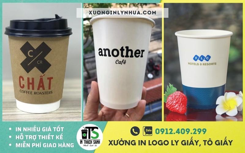 Có nên in ly giấy cafe giá rẻ hay không? In logo ly giấy giá bao nhiêu?